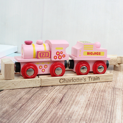 Pink ABC Engine and Track