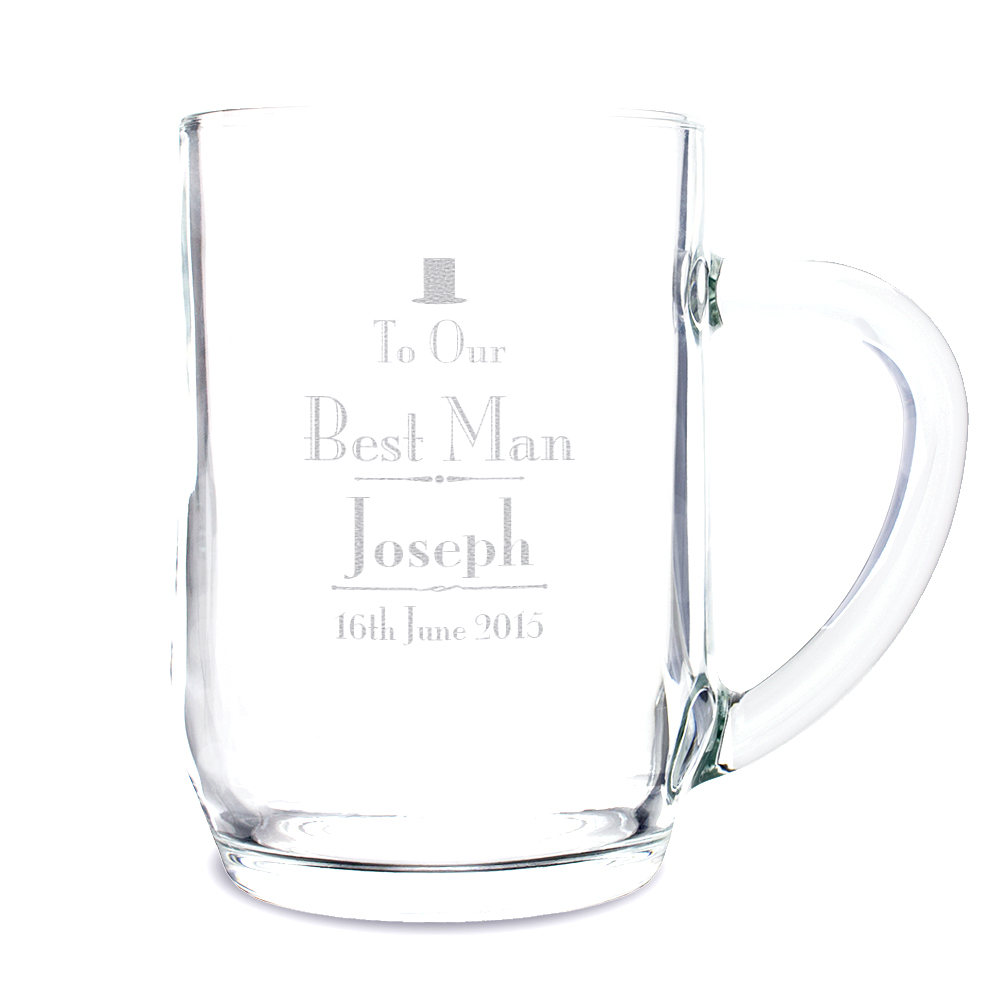 Decorative Wedding Best Man Tankard