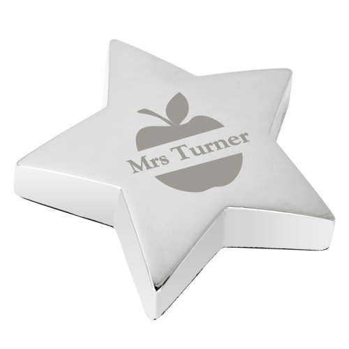 Apple Star Paperweight