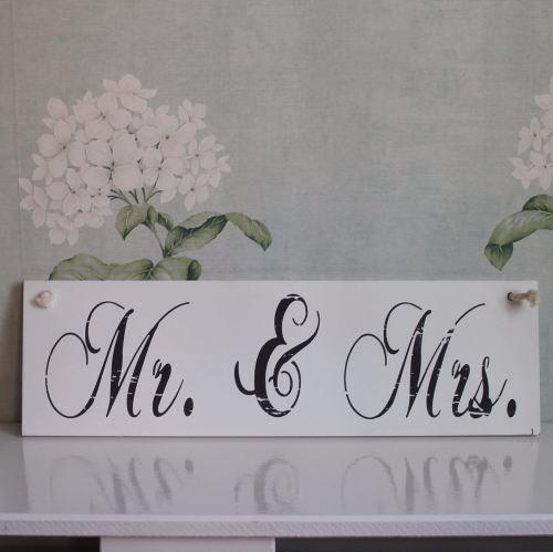 Mr & Mrs Hanging Sign