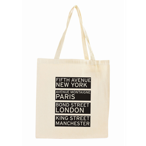 Shopping Destinations Cotton Tote Bag