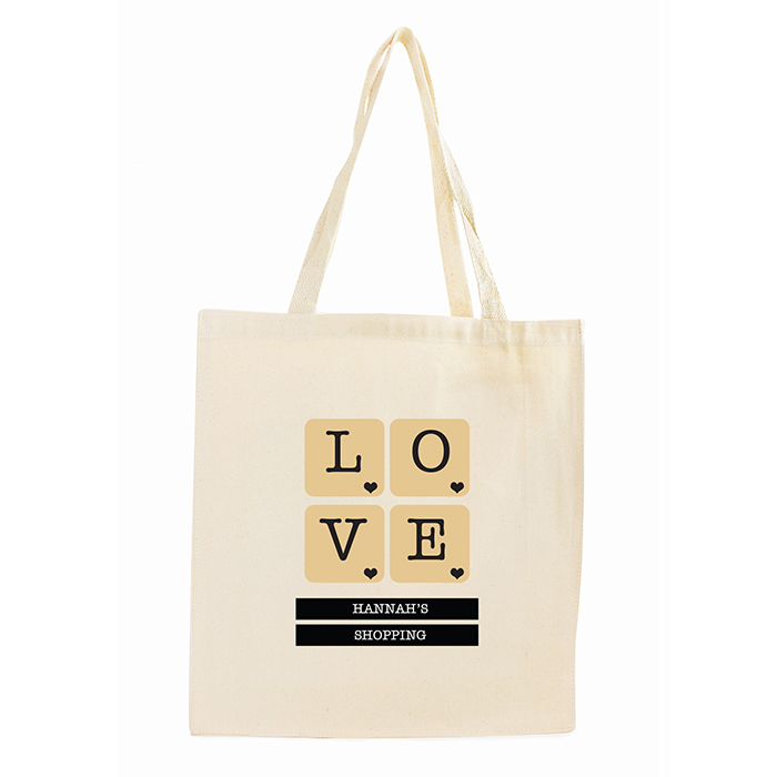 LOVE Tiles Cotton Tote Bag