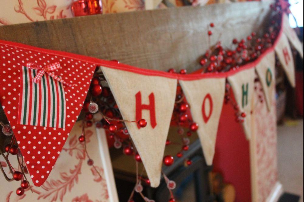 Ho Ho Ho Christmas Bunting