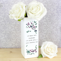 Forget Me Not Square Vase