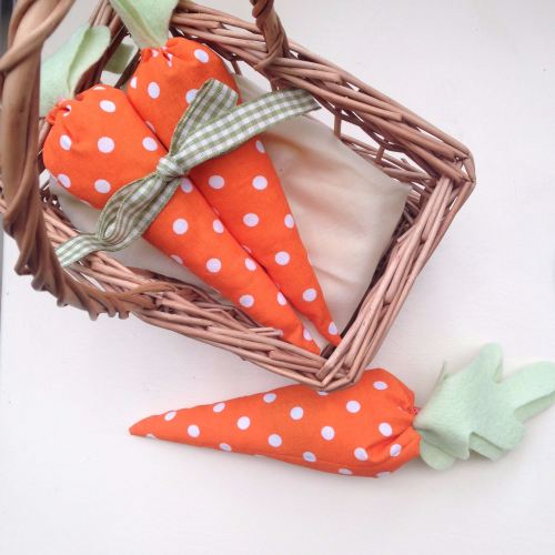 Set of 3 Fabric Carrots