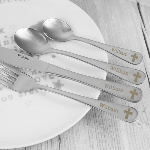 4 Piece Cross Cutlery Set