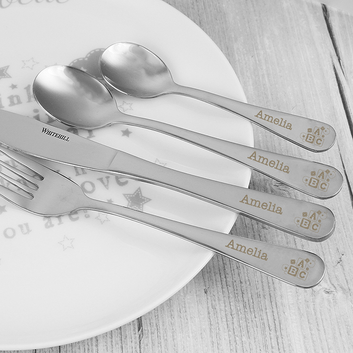 4 Piece ABC Cutlery Set