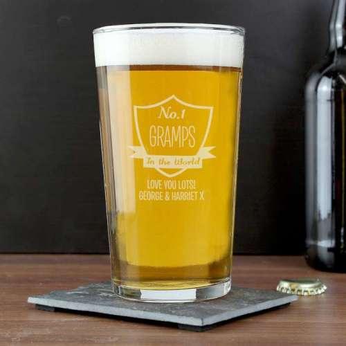 No.1 Shield Pint Glass