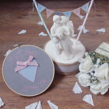 Mr & Mrs Embroidery Heart Hoop