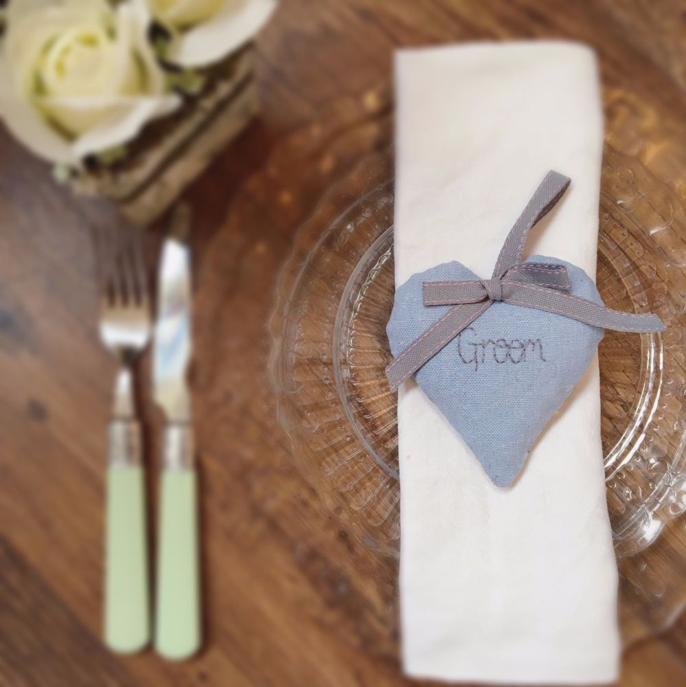 Personalised Lavender Scented Heart Wedding Favours