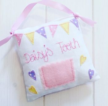 Girls Handmade Personalised Tooth Pillows