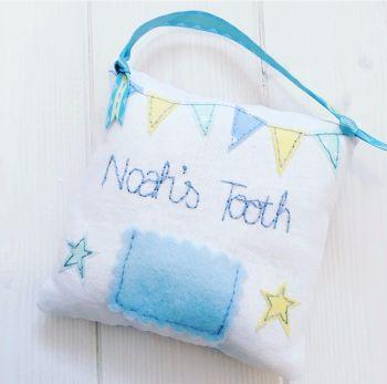 Boys Handmade Tooth Pillow