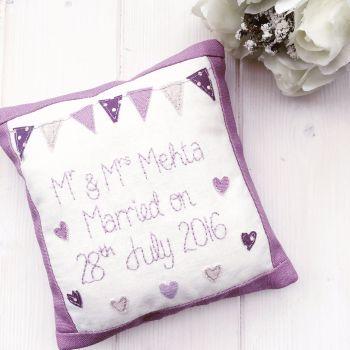 Mr & Mrs Keepsake Wedding Cushion