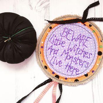 Large Hanging Halloween Sign
