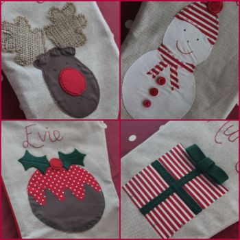 Luxury Christmas Pudding Stocking