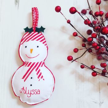 Personalised Hanging Snowman