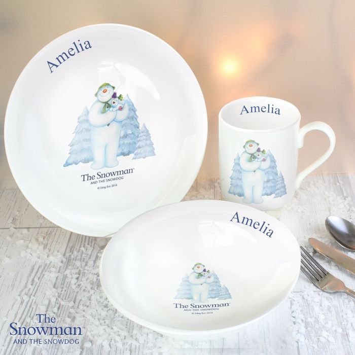 The Snowman and the Snowdog Breakfast Set
