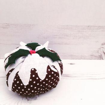 Handmade Fabric Christmas Pudding