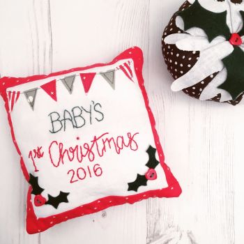 Baby's 1st Christmas Keepsake Cushion