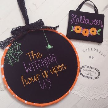 Witching Hour Embroidery Hoop