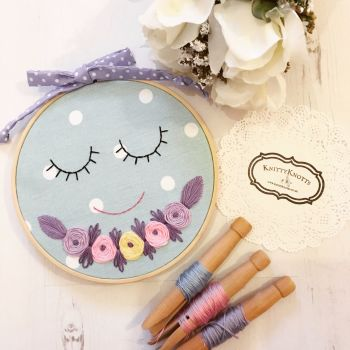 Sleeping Embroidery Hoop