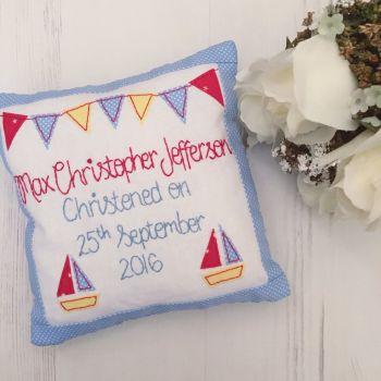 Keepsake Christening Cushion for Boys