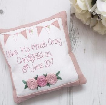 Keepsake Christening Cushion for Girls