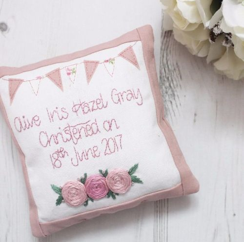Keepsake Christening Cushion for Girls