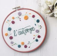 Autumn Embroidery Hoop