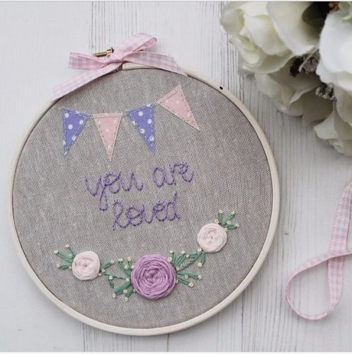 You Are Loved Embroidery Hoop