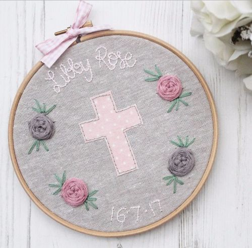 Girls Christening / Baptism Hoop