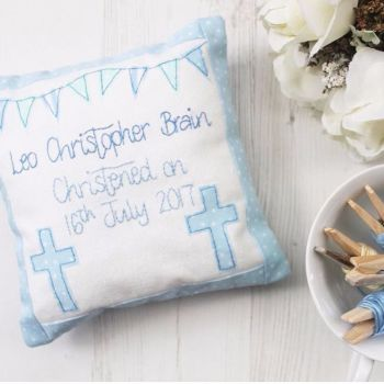 Keepsake Christening Cushion for Boys