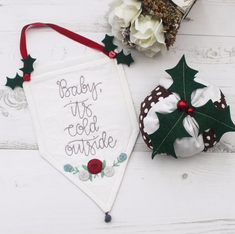Festive Embroidered Banner