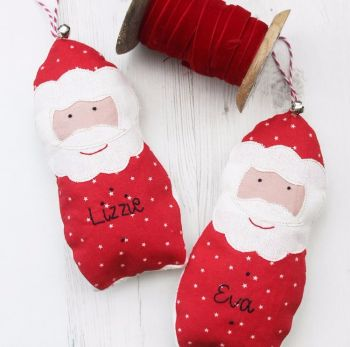Personalised Hanging Santa