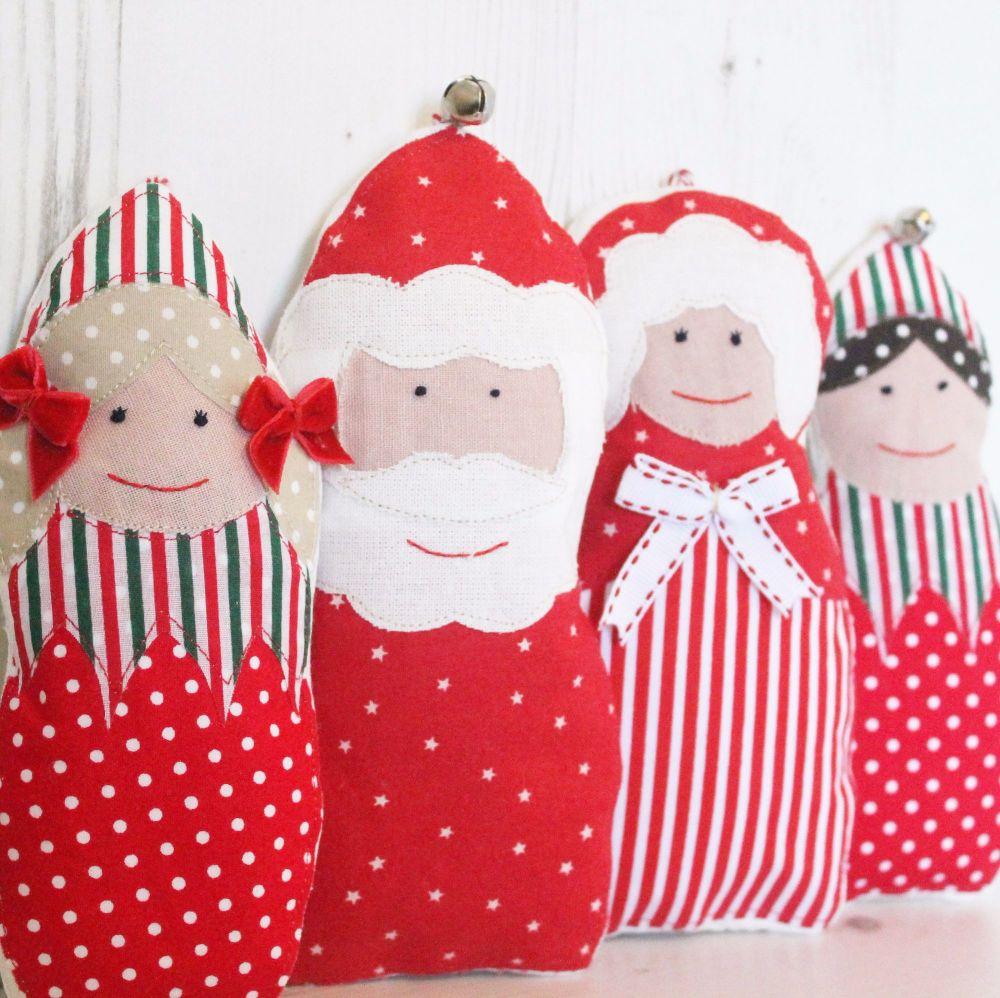 Set Of 4 Christmas Decorations