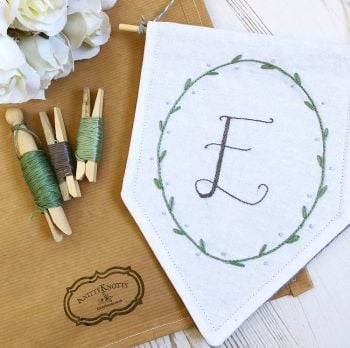 Monogram Embroidered Banner