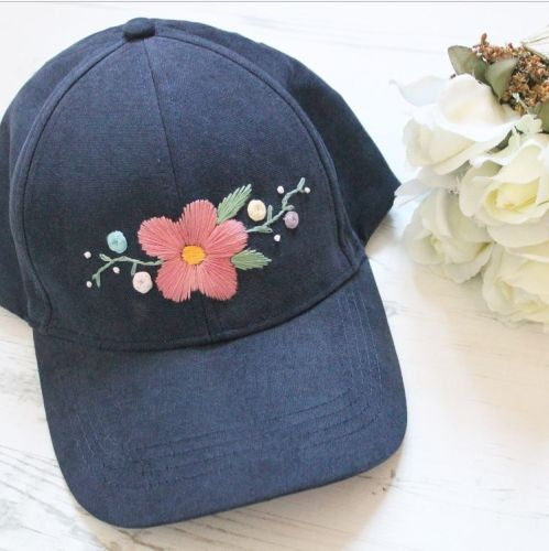 Hand sewn bespoke Floral Caps