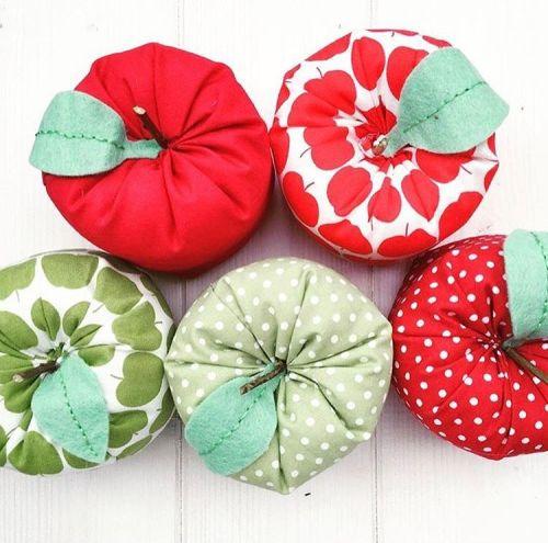 Handmade Fabric Apple With Tag