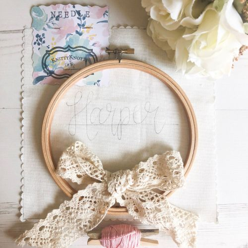 DIY Sew My Name Embroidery Kit