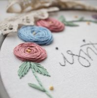 Floral wreath border 1