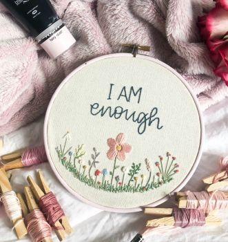 """Bespoke 6"""" Wildflowers Embroidery Hoop"""