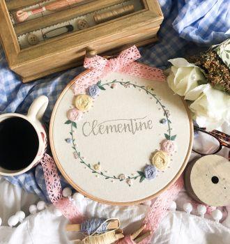 """Bespoke Floral 8"""" Embroidery Hoop"""