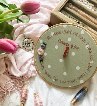 Grandma & Us Embroidery Photo Hoop