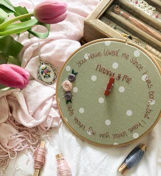 Grandma & Us Embroidery Photo Hoop