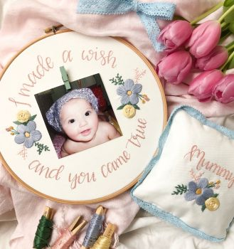 My Mummy & Me Photo Embroidery Hoop