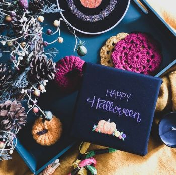 Happy Halloween Pumpkin Embroidery