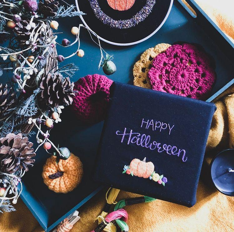 Happy Halloween Pumpkin Embroidery