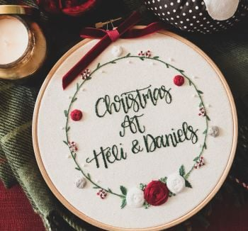 Bespoke Winter Wreath Hoop