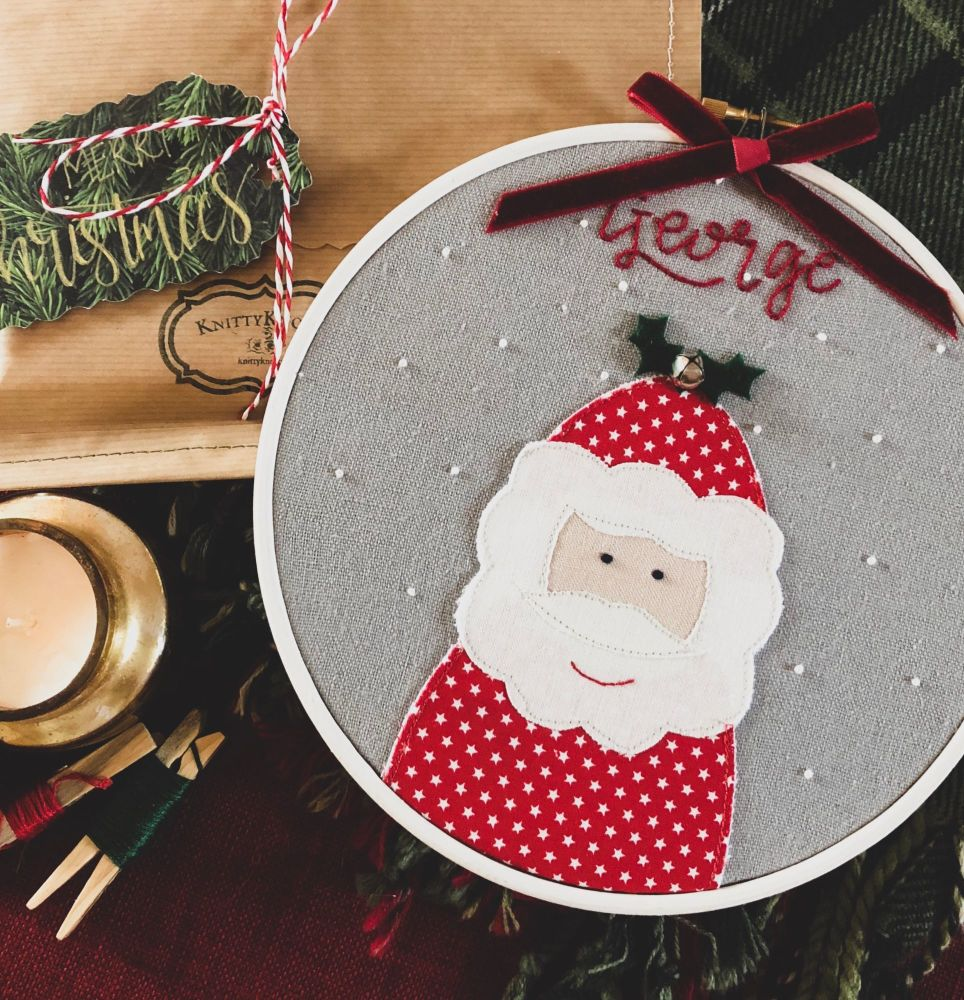 Personalised Santa Hoop