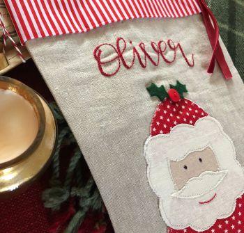 Luxury Santa Christmas Stocking